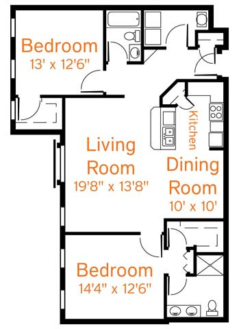 2 Bedrooms 2 Bathrooms Apartment for rent at Roebling Row in Covington, KY