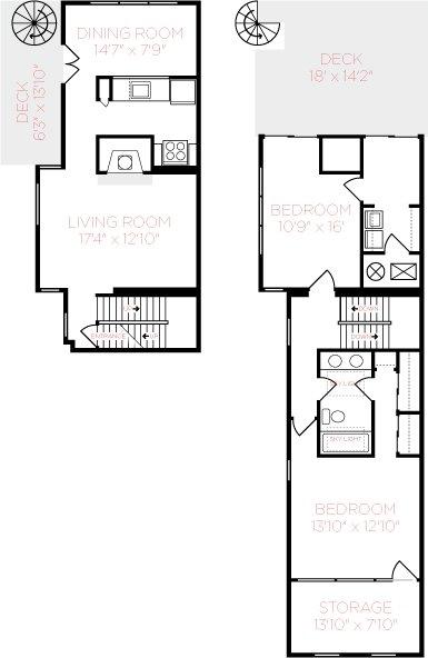2 Bedrooms 2 Bathrooms Apartment for rent at Mt. Adams Apartments in Cincinnati, OH
