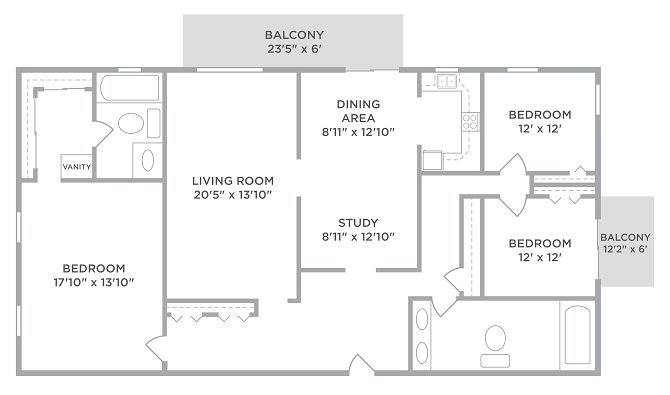 3 Bedrooms 2 Bathrooms Apartment for rent at Lakota Lake in West Chester, OH