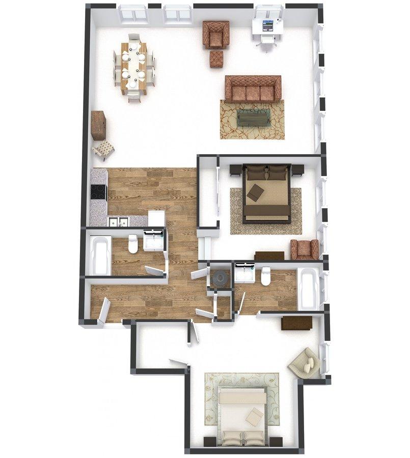 2 Bedrooms 2 Bathrooms Apartment for rent at Groton Lofts in Cincinnati, OH
