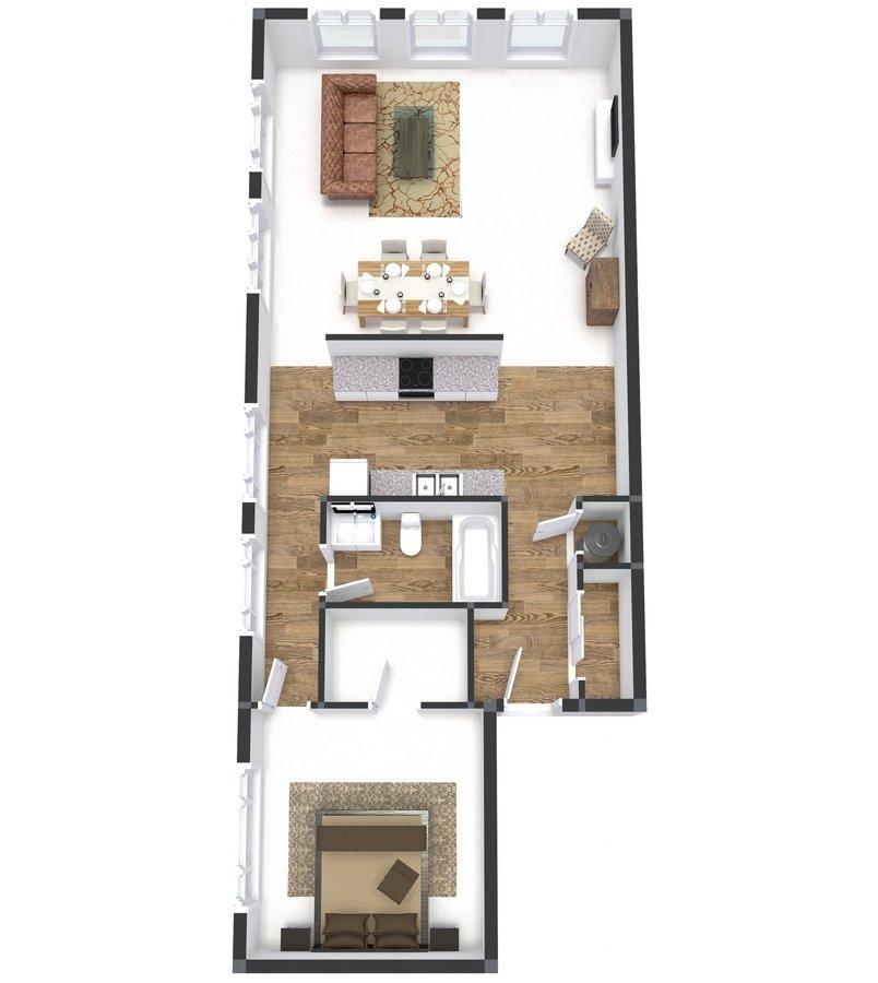 1 Bedroom 1 Bathroom Apartment for rent at Groton Lofts in Cincinnati, OH