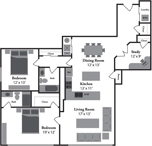 2 Bedrooms 2 Bathrooms Apartment for rent at Renaissance At The Power Building in Cincinnati, OH