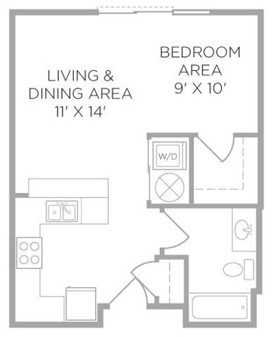 Studio 1 Bathroom Apartment for rent at U Square in Cincinnati, OH