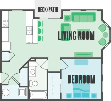 1 Bedroom 1 Bathroom Apartment for rent at Monmouth Row Apartments in Newport, KY