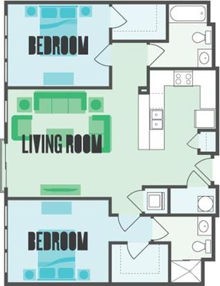 2 Bedrooms 2 Bathrooms Apartment for rent at Monmouth Row Apartments in Newport, KY