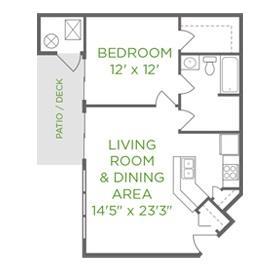 1 Bedroom 1 Bathroom Apartment for rent at Fieldstone in Beavercreek, OH