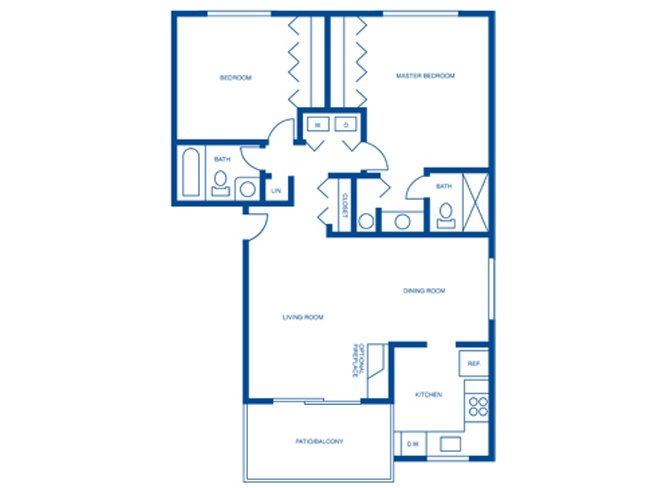 2 Bedrooms 2 Bathrooms Apartment for rent at Harpers Point Apartments in Cincinnati, OH