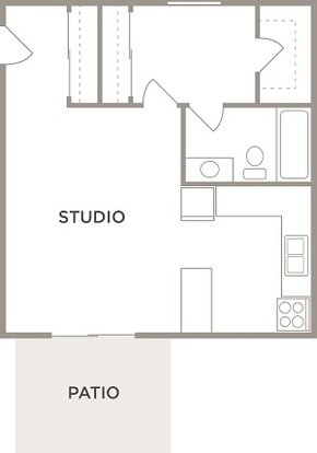 Studio 1 Bathroom Apartment for rent at Kingston Square Apartments in Indianapolis, IN
