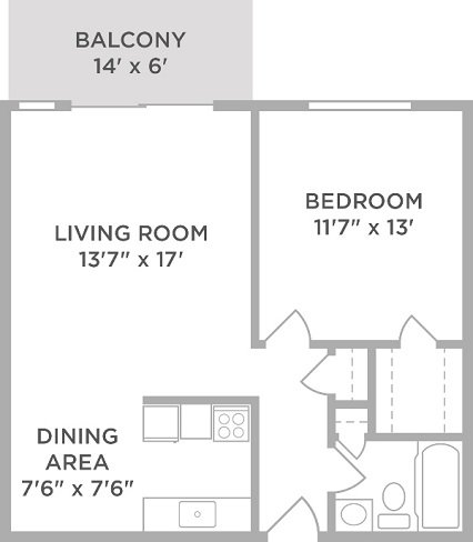 1 Bedroom 1 Bathroom Apartment for rent at Lakota Lake in West Chester, OH