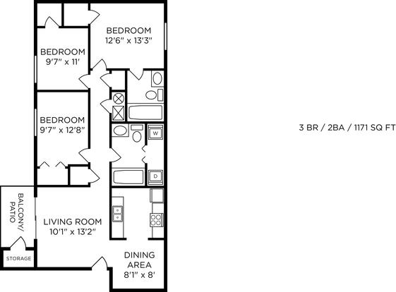 3 Bedrooms 2 Bathrooms Apartment for rent at Hilltop Apartments in Cincinnati, OH