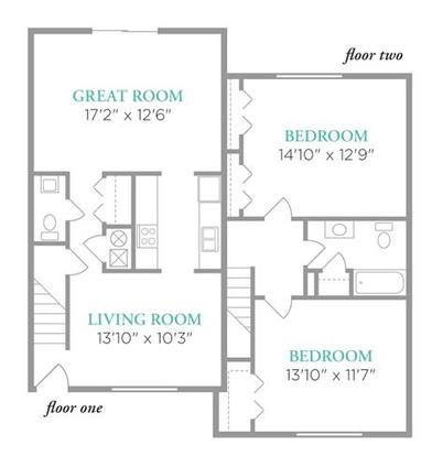 2 Bedrooms 1 Bathroom Apartment for rent at Lexington Park Apartments in Indianapolis, IN