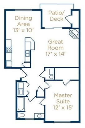 1 Bedroom 1 Bathroom Apartment for rent at The Falls At Landen in Maineville, OH