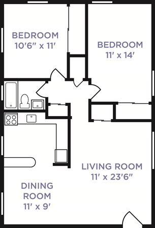 2 Bedrooms 1 Bathroom Apartment for rent at Galloway Village in Columbus, OH