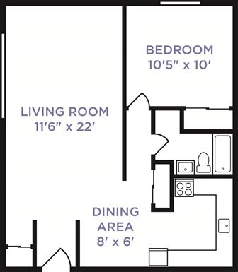 1 Bedroom 1 Bathroom Apartment for rent at Galloway Village in Columbus, OH