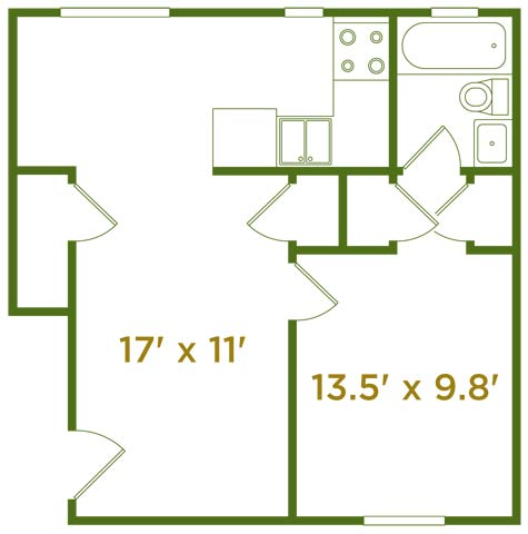 1 Bedroom 1 Bathroom Apartment for rent at The Estates At Fernview in Cincinnati, OH