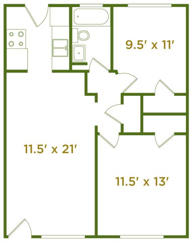2 Bedrooms 1 Bathroom Apartment for rent at The Estates At Fernview in Cincinnati, OH