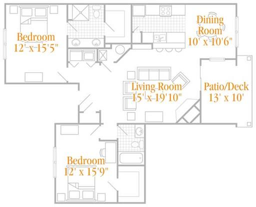 2 Bedrooms 2 Bathrooms Apartment for rent at Four Bridges in Liberty Township, OH