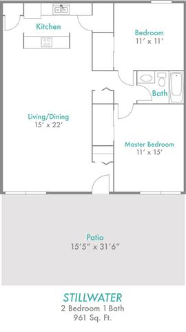 2 Bedrooms 1 Bathroom Apartment for rent at Rivers Edge in Dayton, OH