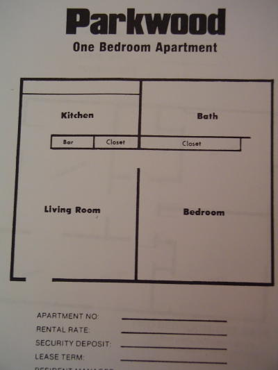 1 Bedroom 1 Bathroom Apartment for rent at Parkwood Apartments in Tallahassee, FL