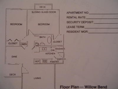 2 Bedrooms 1 Bathroom Apartment for rent at Willow Bend in Tallahassee, FL