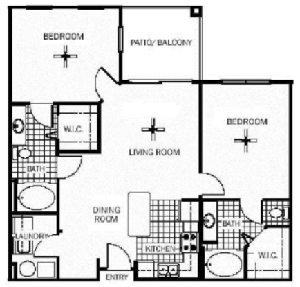 2 Bedrooms 2 Bathrooms Apartment for rent at Wildflower Apartments in Gainesville, FL