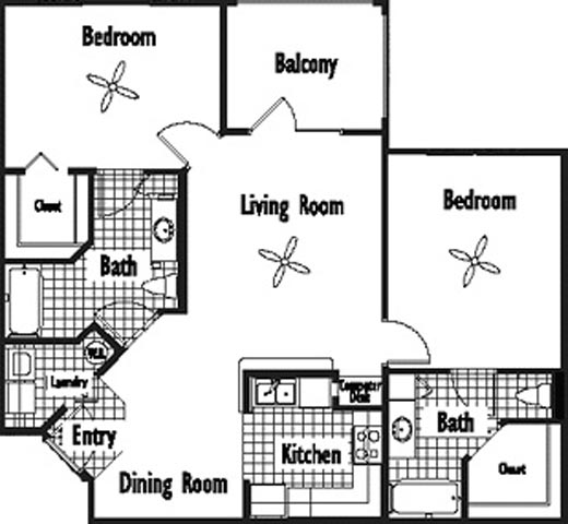 2 Bedrooms 2 Bathrooms Apartment for rent at Uptown Village At Townsend in Gainesville, FL