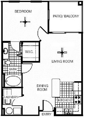 1 Bedroom 1 Bathroom Apartment for rent at Wildflower Apartments in Gainesville, FL