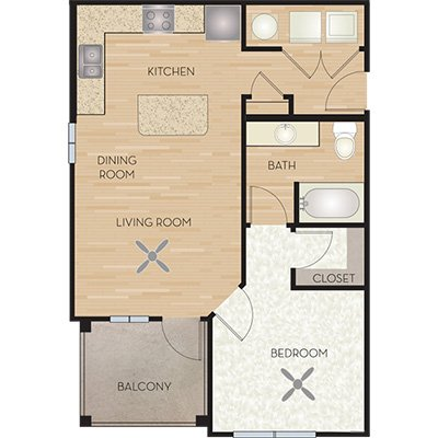 1 Bedroom 1 Bathroom Apartment for rent at Wiregrass At Stone Oak in San Antonio, TX