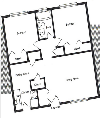 2 Bedrooms 1 Bathroom Apartment for rent at Palm Bay Apartments in Gainesville, FL