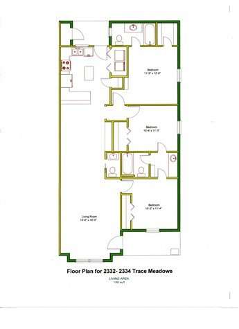 3 Bedrooms 2 Bathrooms Apartment for rent at 2321-2124 Trace Meadows in College Station, TX