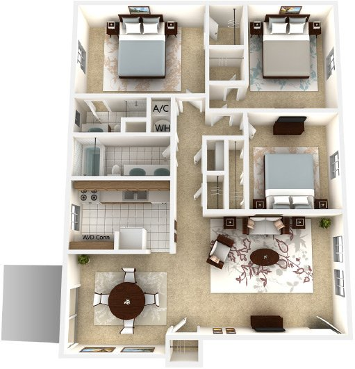 3 Bedrooms 2 Bathrooms Apartment for rent at Londontown @ Midtown Apartments in Tallahassee, FL