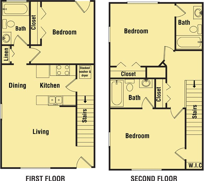 3 Bedrooms 3 Bathrooms Apartment for rent at Tyson Green Townhomes in Tallahassee, FL