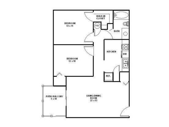 2 Bedrooms 1 Bathroom Apartment for rent at Avalon West in Knoxville, TN
