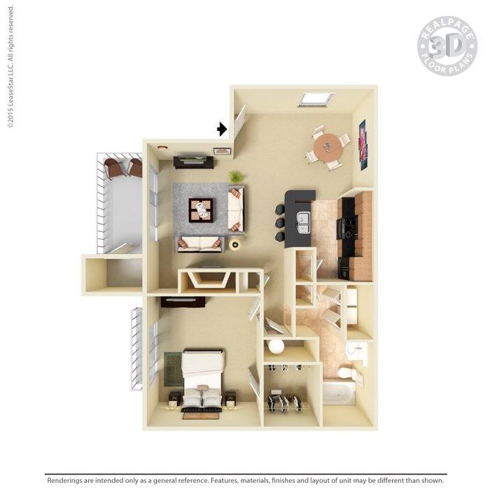 1 Bedroom 1 Bathroom Apartment for rent at Aurea Station in Charlotte, NC