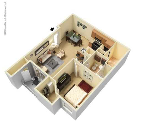 1 Bedroom 1 Bathroom Apartment for rent at Legacy At Fort Clarke in Gainesville, FL