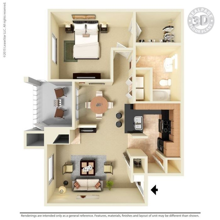 1 Bedroom 1 Bathroom Apartment for rent at The Oaks in Charlotte, NC