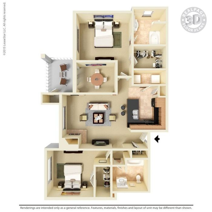 2 Bedrooms 2 Bathrooms Apartment for rent at The Oaks in Charlotte, NC