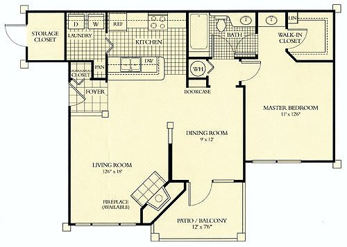 1 Bedroom 1 Bathroom Apartment for rent at The Tradition At Mallard Creek in Charlotte, NC