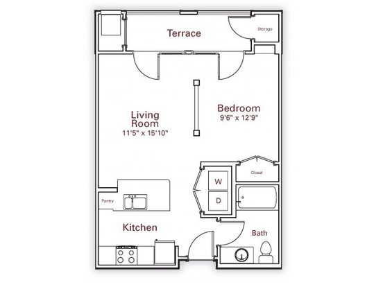 Studio 1 Bathroom Apartment for rent at Wesley Village Apartments in Charlotte, NC