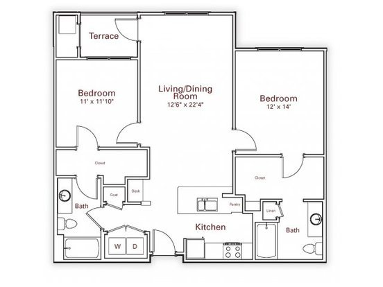 2 Bedrooms 2 Bathrooms Apartment for rent at Wesley Village Apartments in Charlotte, NC