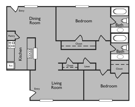 2 Bedrooms 2 Bathrooms Apartment for rent at Briarwood Apartments in College Station, TX
