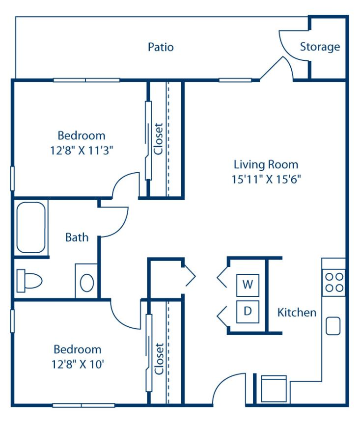 2 Bedrooms 1 Bathroom Apartment for rent at Congaree Villas in West Columbia, SC