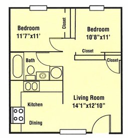 2 Bedrooms 1 Bathroom Apartment for rent at Benchmark West in Tallahassee, FL