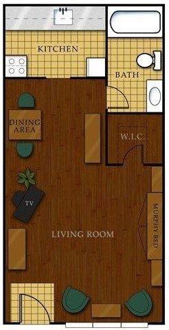 Studio 1 Bathroom Apartment for rent at Stadium View Condominiums in Tallahassee, FL