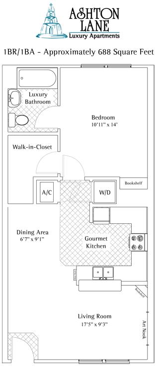 1 Bedroom 2 Bathrooms Apartment for rent at Ashton Lane in Gainesville, FL