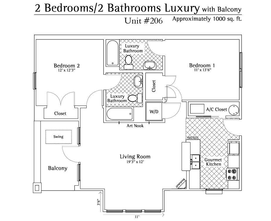 2 Bedrooms 2 Bathrooms Apartment for rent at Ashton Lane in Gainesville, FL