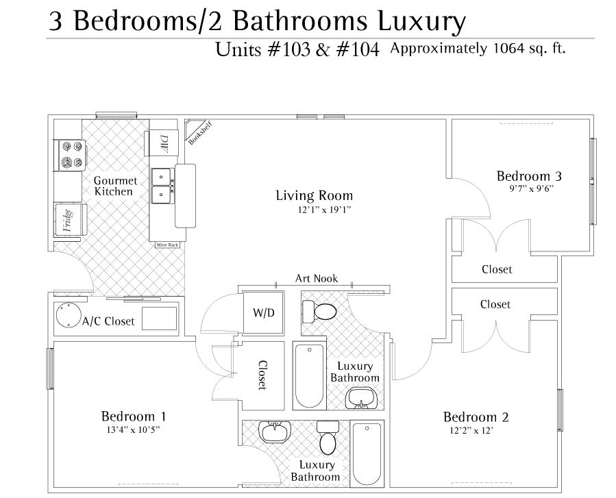 3 Bedrooms 2 Bathrooms Apartment for rent at Ashton Lane in Gainesville, FL