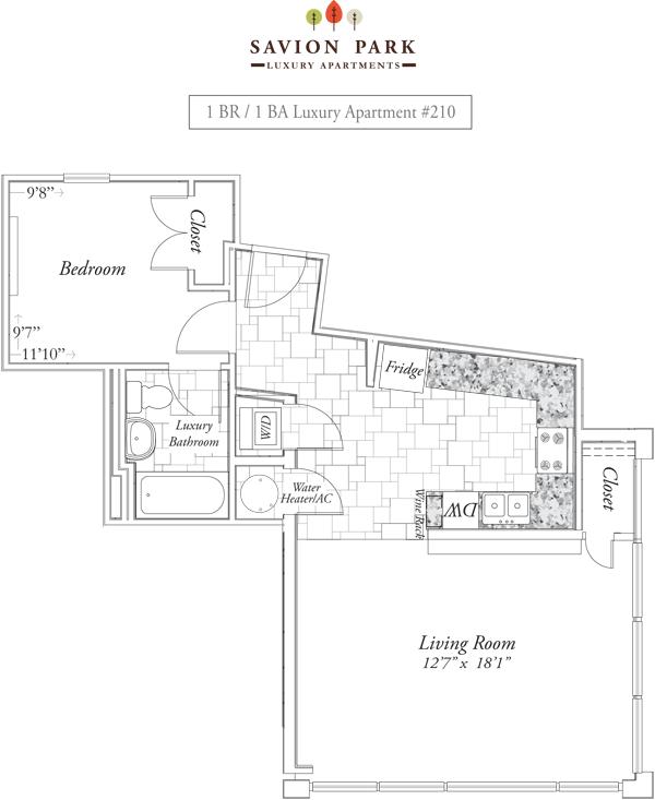 1 Bedroom 1 Bathroom Apartment for rent at Savion Park in Gainesville, FL