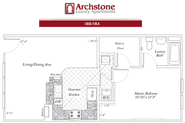 1 Bedroom 1 Bathroom Apartment for rent at Archstone Luxury Apartments in Gainesville, FL