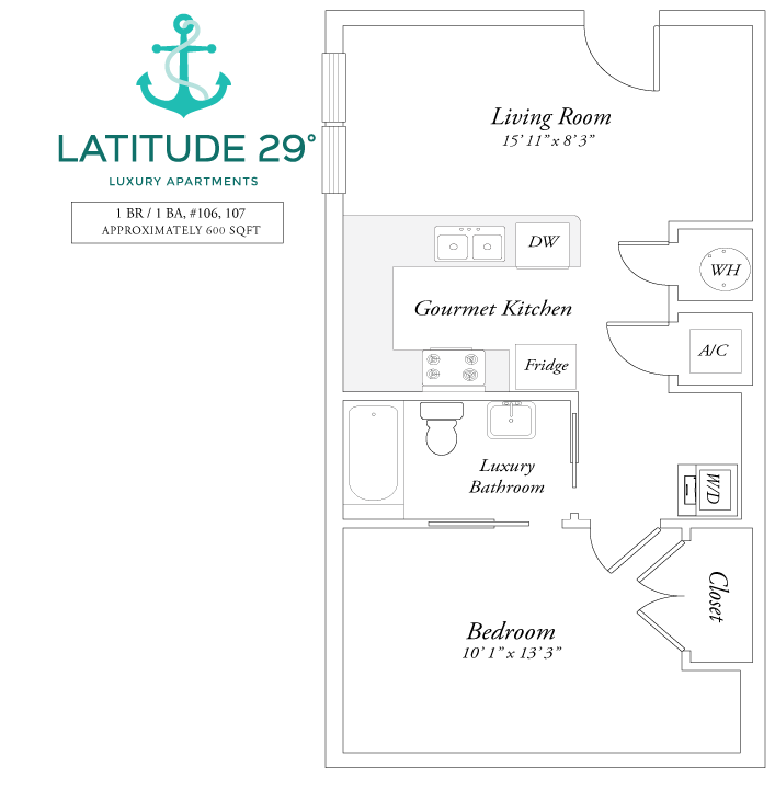 1 Bedroom 1 Bathroom Apartment for rent at Latitude 29º in Gainesville, FL
